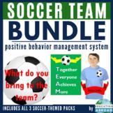 Positive Behavior Management System: Soccer Theme BUNDLE (Jobs & Decor Include)