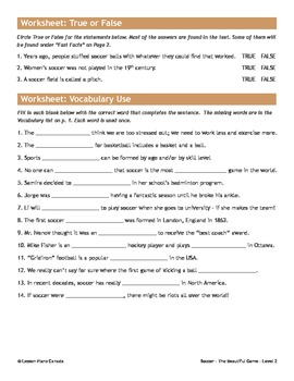 Soccer, The Beautiful Game (Bundled Lesson Plans)