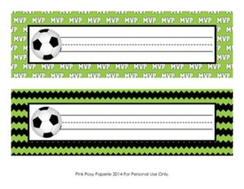 Soccer Theme Classroom Decor Desk Name Plates