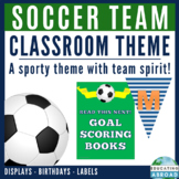 Back to School Decor, Desk and Cubby Name, Postcard, Soccer Theme {editable}