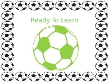 Soccer Theme Clip Chart