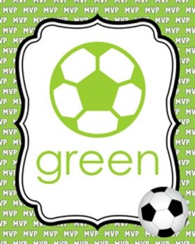 Soccer Theme Color Posters