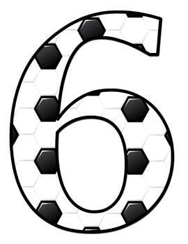 Soccer Theme Jumbo Letters