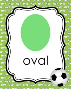 Soccer  Theme Shape Posters