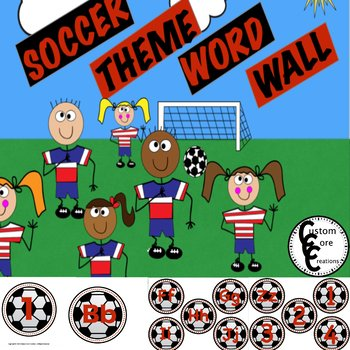Soccer Theme Word Wall Packet