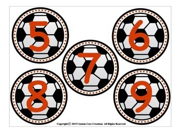 Soccer Theme Word Wall Packet Classroom Decor