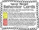 Soccer Themed Behavior Cards