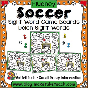Sight Words - Soccer Themed Game Boards