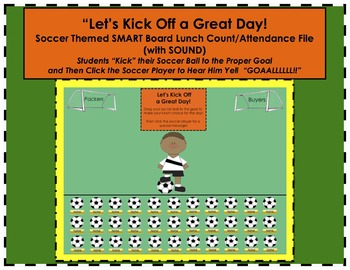 "Soccer Themed ""Let's Kick Off a Great Day!"" SMART Board Lu"