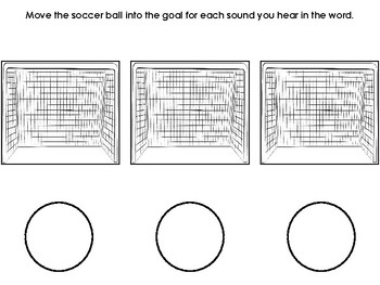 Soccer Themed Phoneme Segmentation Activity