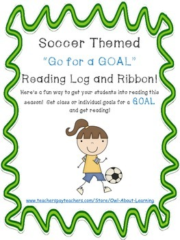 Soccer Themed Reading Log and Goal