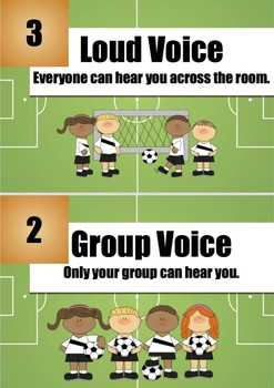 Soccer-Themed Voice Level Chart