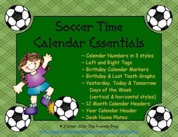 Soccer Time Calendar Essentials