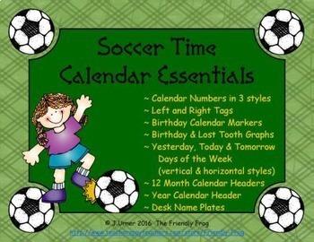 Soccer Time Calendar Essentials