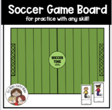 Soccer Time Game Board For Practicing Spelling, Math and S