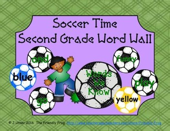 Soccer Time Second Grade Word Wall