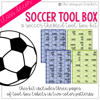 Soccer Toolbox Labels
