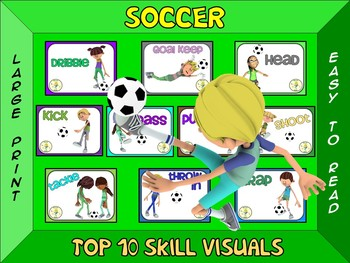 Soccer- Top 10 Skill Visuals- Simple Large Print Design