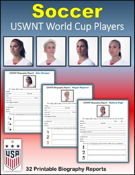 Soccer - USWNT World Cup Players (Biography Reports)