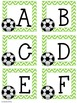 Soccer Upper and Lowercase Letter Cards PLUS a BONUS Number Words 1-10 Matching!