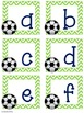 Soccer Upper and Lowercase Letter Cards PLUS a BONUS Numbe