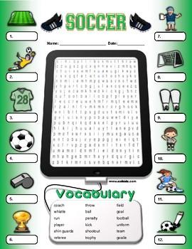 Soccer Vocabulary / Identify Activity
