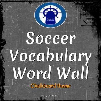 Soccer Vocabulary Word Wall Chalkboard Theme