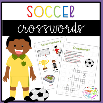 Soccer Vocabulary and Crosswords