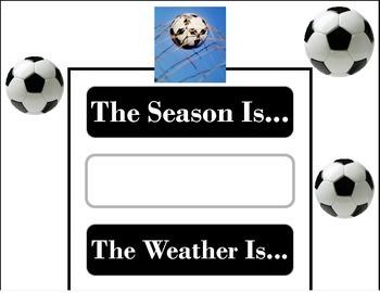 Soccer Weather Chart! Soccer Bulletin Board! Soccer Theme!