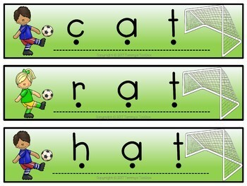 Phonics Blending Task Cards with CVC Words and Digraphs