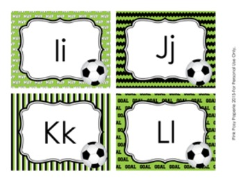 Soccer Word Wall Headers