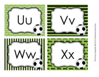 Soccer Word Wall Headers