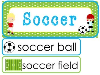 Soccer Word Wall Weekly Theme Posters.