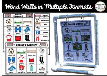 Soccer Word Walls: Sports Words, Printables, Thematic Writing Paper