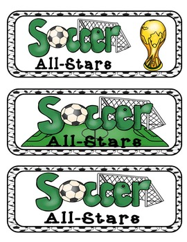Soccer World Cup All-Stars Mini Research Fold-Ems, GOs and Writing Templates
