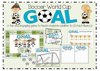 Soccer World Cup GOAL! An addition maths game!
