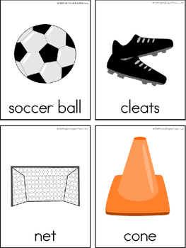 Soccer Writing Center Tools: Sports Words