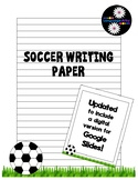 Soccer Paper for Creative Writing and Poetry; printable or
