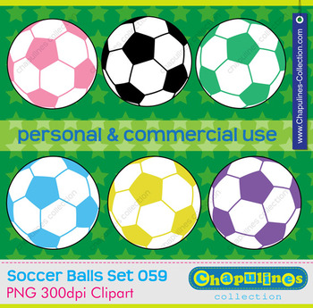 Soccer ball clipart, commercial use, soccer scrapbooking, Set 59