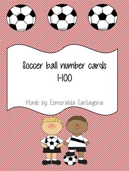 Soccer ball number cards