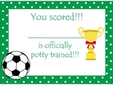 Soccer (boys) themed Health Potty Chart and Certificate pr