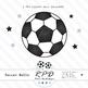 Soccer football black printable digital papers & clipart set