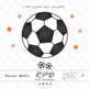 Soccer football orange printable digital papers & clipart set