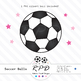 Soccer football pink printable digital papers & clipart set