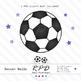 Soccer football purple printable digital papers & clipart set