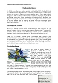 Soccer (football) reading comprehension for UK year 6 (5th Grade)