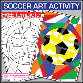 Free Soccer Coloring Pages Abstract Art Activity By The