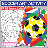 Free Soccer Coloring Pages - Abstract Art Activity