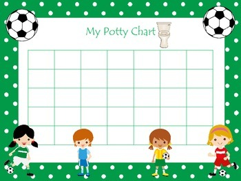 photo about Potty Chart Printable identified as Football (ladies) themed Fitness Potty Chart and Certification preschool printable.