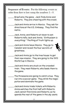 Soccer on Sunday : Magic Tree House #52 (Mary Pope Osborne) Novel Study